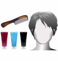 hair salonmannequin vector image