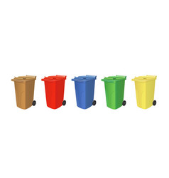 Recycling trash cans vector