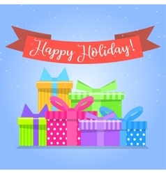 Gift boxes for holiday Colorful box vector image vector image