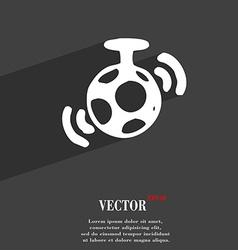 mirror ball disco icon symbol Flat modern web vector image vector image