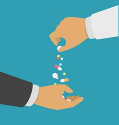 pharmacist giving medicine vector image