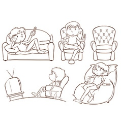 Plain sketches of the lazy people vector