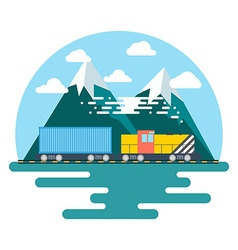 Transport flat Background Perfect flat Train vector image vector image