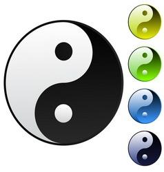 background yin-yang symbol vector image vector image