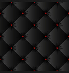 black upholstery texture seamless pattern vector image