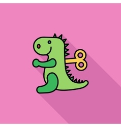 Dinosaurus toy vector image vector image