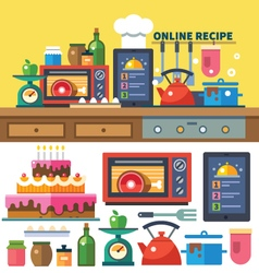Find recipes online vector image vector image