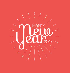 Happy new year 2017 lettering greeting card vector