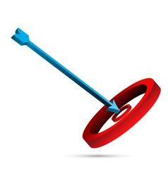 target board with arrow vector image