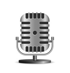vintage metal studio microphone icon vector image vector image