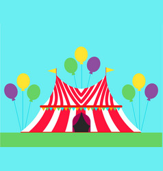 Circus show entertainment tent marquee outdoor vector