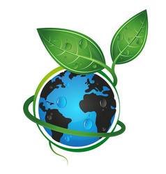 earth green eco concept vector image vector image