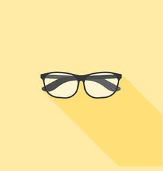 eyeglasses nerd and geek icon vector image