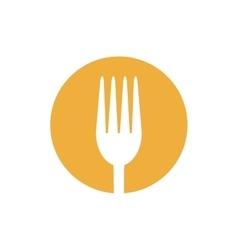fork food utensil kitchen icon design vector image