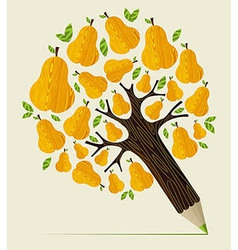 Healthy fruit concept tree vector image vector image