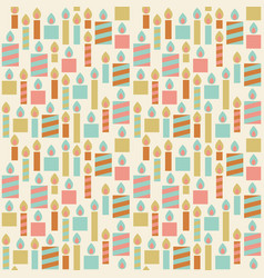 seamless pattern of birthday candle vector image vector image