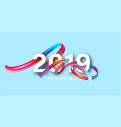 2019 new year on background a colorful vector image