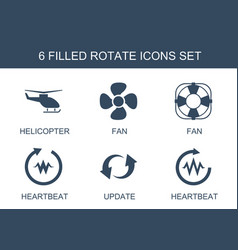 6 rotate icons vector