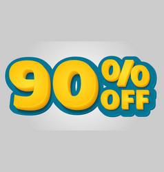 90 off discount banner special offer sale tag in vector image