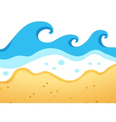 A beach with big waves vector