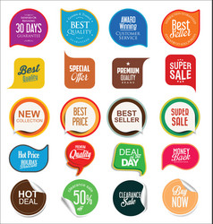 abstract modern sale badges collection 1 vector image