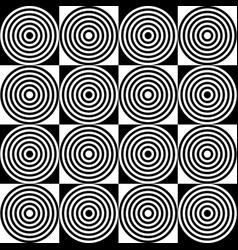 Abstract monochrome pattern with concentric vector