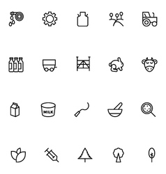Agriculture Line Icons 5 vector image