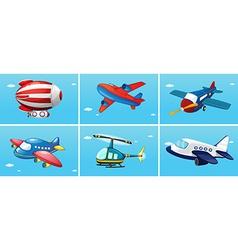 Aircrafts vector image