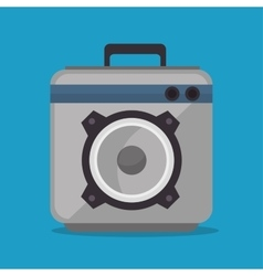 Audio speaker power music icon vector