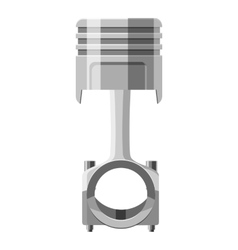 Automotive piston icon gray monochrome style vector image