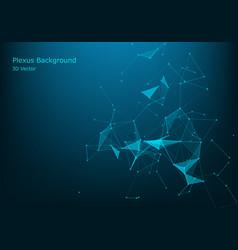 Big data visualization abstract polygonal vector