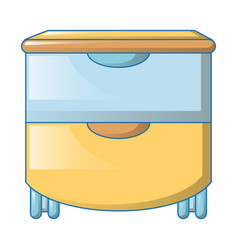 big drawers icon cartoon style vector image