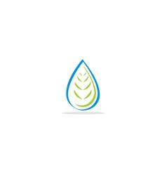 Bio droplet logo vector