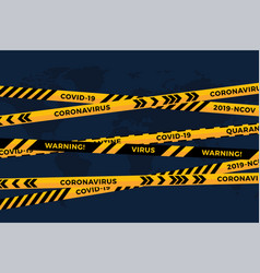 biohazard danger yellow black tape on white paper vector image
