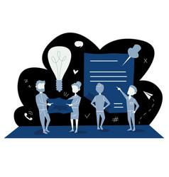 blue business concept vector image