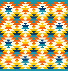 bohemian aztec large diamonds orange pattern vector image