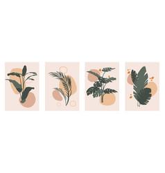 Botanical wall art set vector