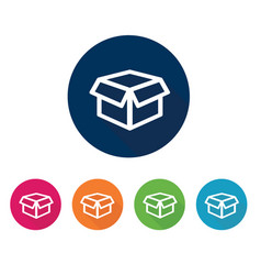 box icon flat design vector image