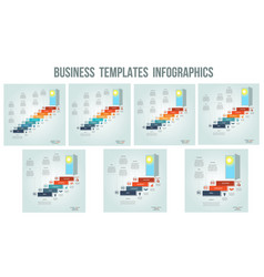 business success startup conceptual infographics vector image