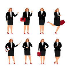 businesswoman poses collection vector image