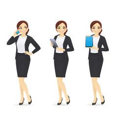Businesswoman set vector