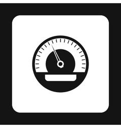 Car speedometer icon simple style vector