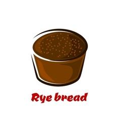 Cartoon loaf of spicy rye bread vector