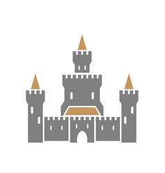 castle symbol icon isolated on white background vector image