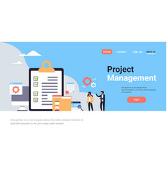 checklist survey project management business man vector image