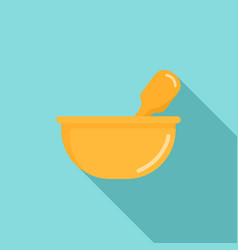 Chemical bowl icon flat style vector