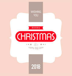 Christmas card with light background and vector