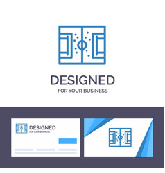 creative business card and logo template field vector image
