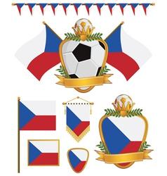 Czech republic flags vector