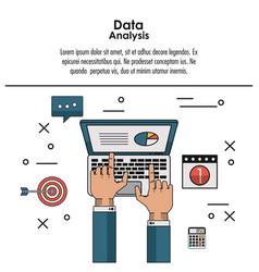 Data analysis infographic vector
